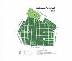Karte Melatenfriedhof